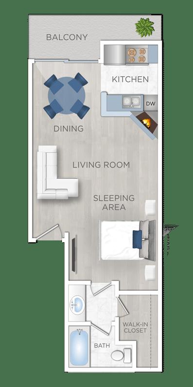 Apartments for rent Studio
