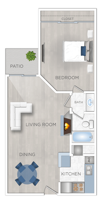 Apartments for rent One Bedroom