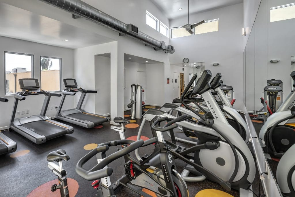 Apartments in Hollywood, CA - Fitness Center with Equipment